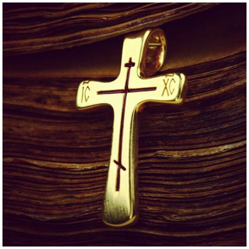 Нательный серебряный крест «Простой» 576