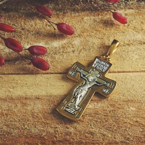 Большой серебряный крест (15 гр) «Нерушимая Стена» (Кс.720.с)
