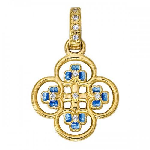 Нательный крест «Клевер» 01.047