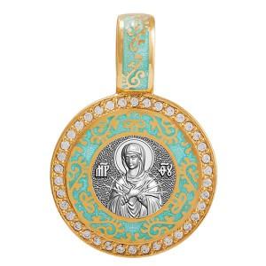 Нательная икона «Богородица Семистрельная» 02.078