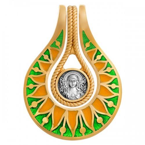 Нательная икона «Святая мученица Любовь. Молитва» 102.739-2