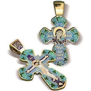 Большой православный крест с эмалью КЭ 20