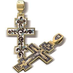 Православный крест с эмалью КЭ.05
