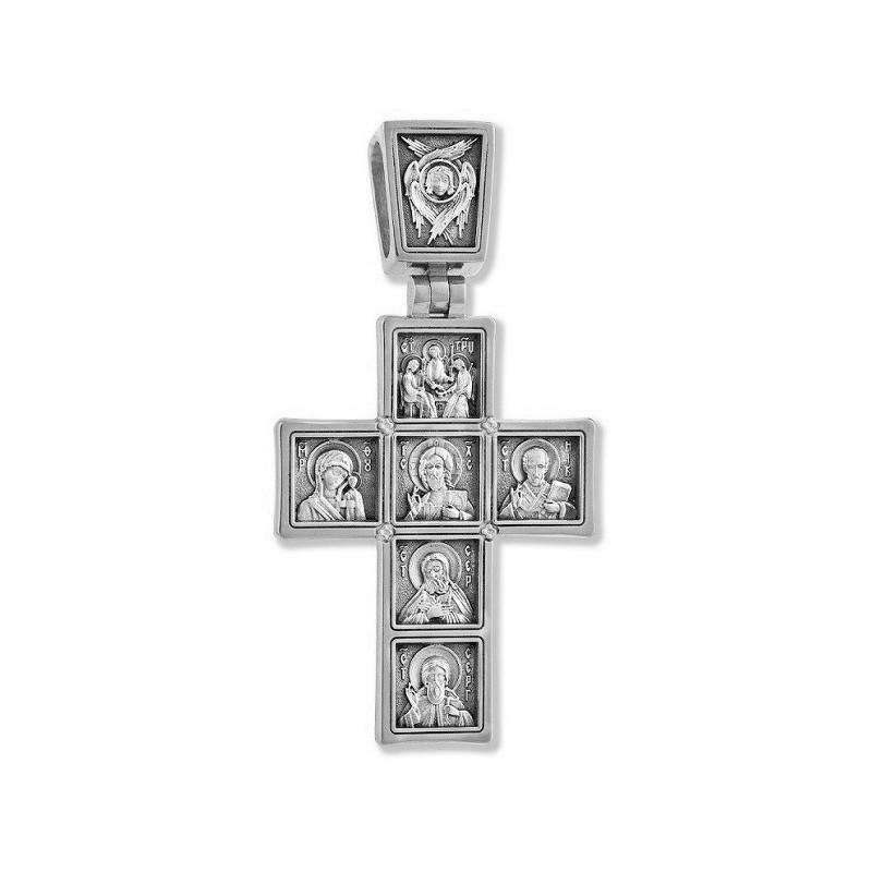 Серебряный нательный крест «Иконостас» 22123с