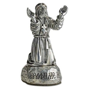 Статуэтка Св. Серафим Саровский «Молитва на камне» Ст.01