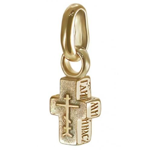 Маленький крестик из желтого золота