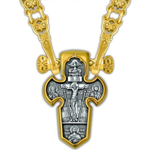 Православный крест «Распятие. Архангел Михаил» 101.004