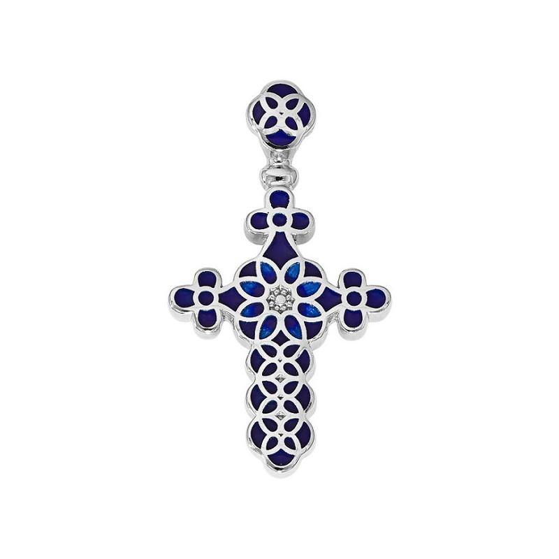 Нательный крестик с эмалью 01.031Т