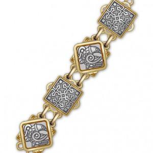 Серебряная цепь с позолотой «Птицы небесные» 40.781
