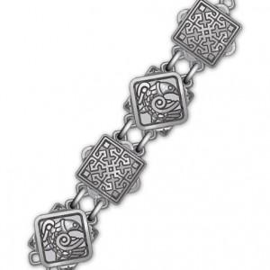 Серебряная православная цепь «Птицы Небесные»