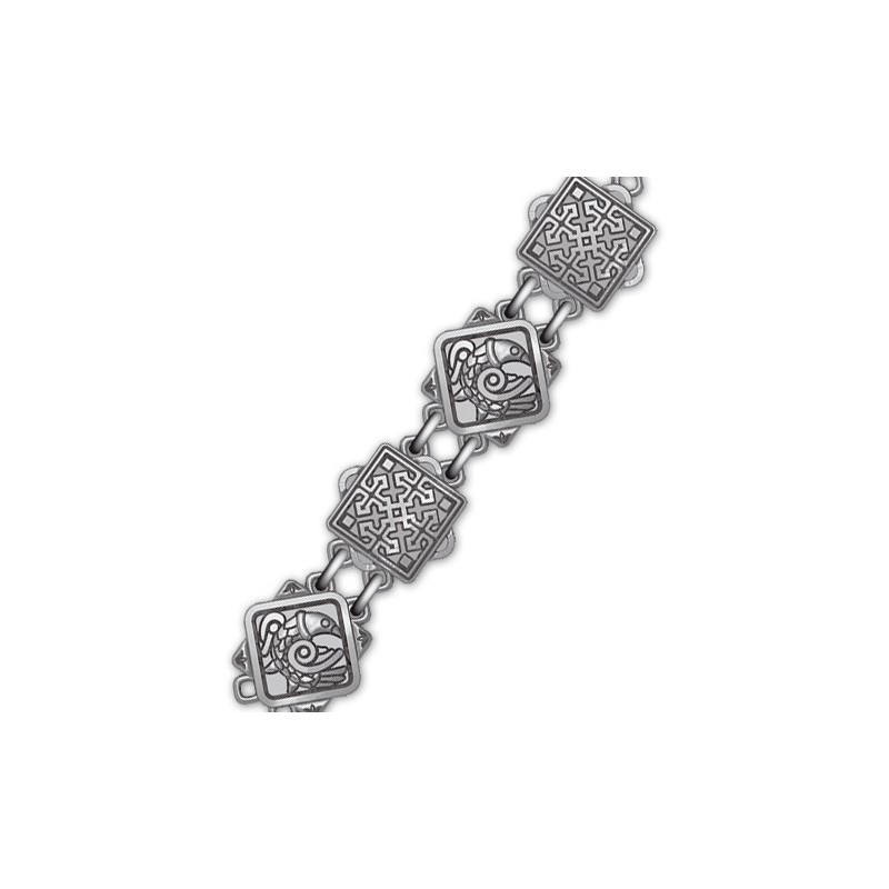 Серебряная цепь с чернением «Птицы небесные» 40.782
