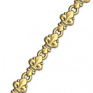 Православная цепочка из серебра «Малые лилии» 40.751