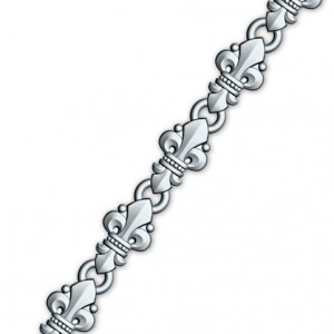 Православная цепочка из серебра «Малые лилии» 40.752