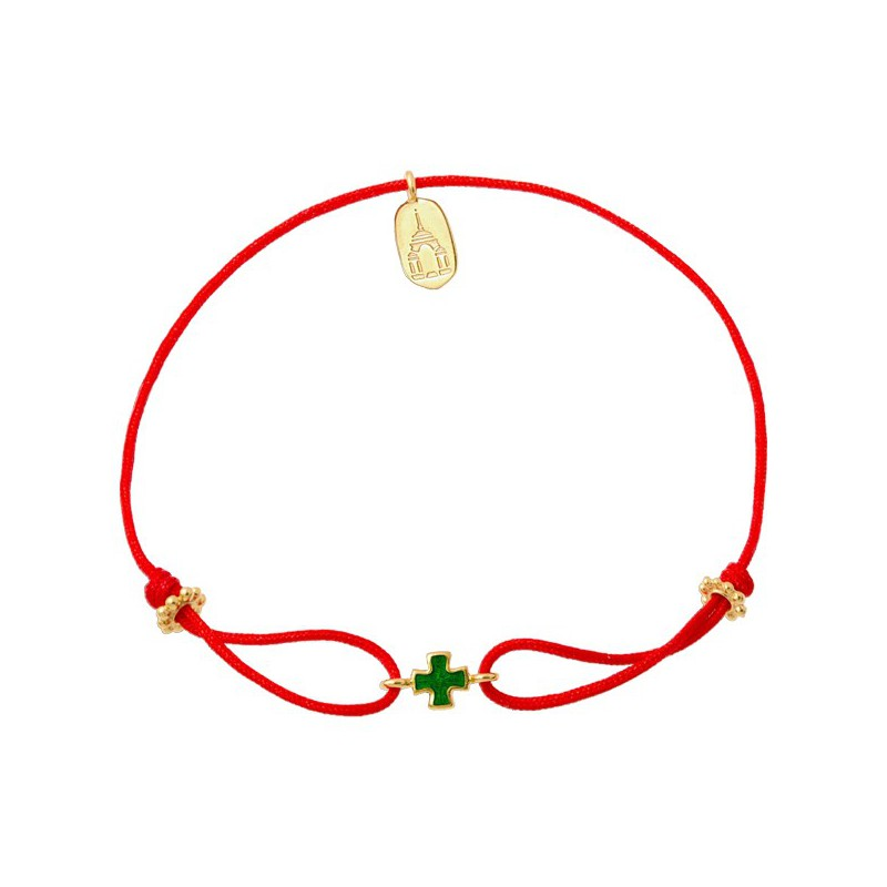 Веревочный браслет «Крестик»