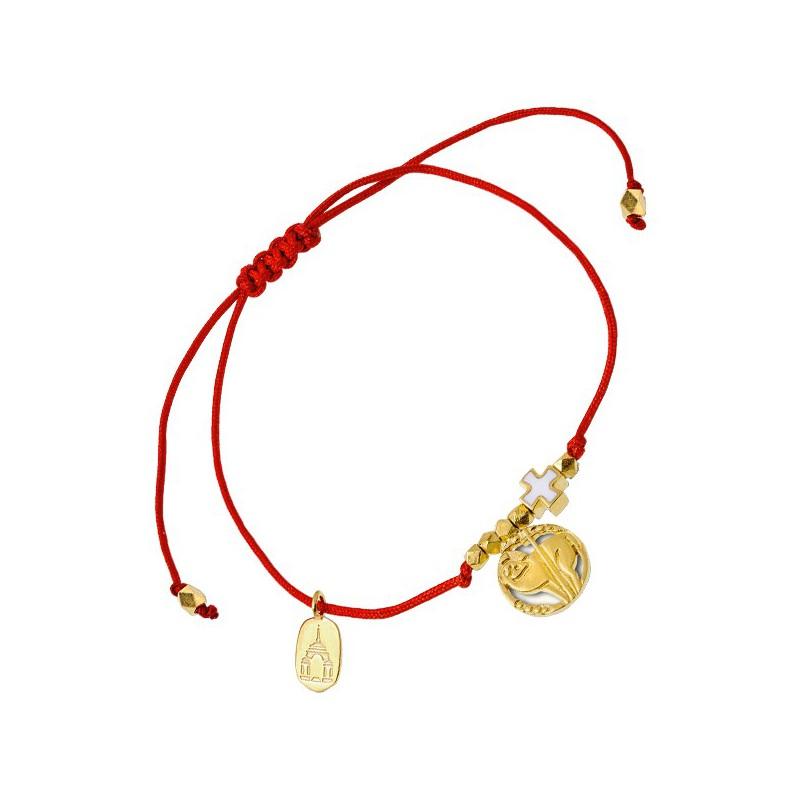 Браслет на красной нити «Крест и христианский символ»