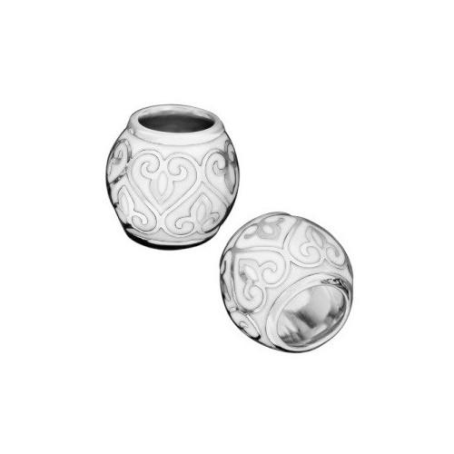 Серебряная бусина с эмалью «Процветшие Сердца»