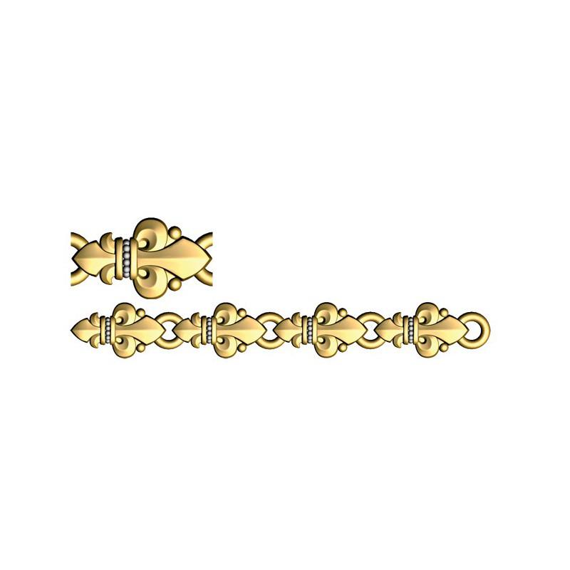 Православный браслет из серебра «Малые лилии» 40.753