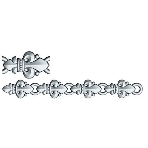 Православный браслет из серебра «Малые лилии» 40.754