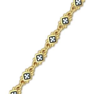 Браслет из серебра с позолотой «Христианские символы» 40.803
