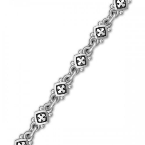 Браслет из серебра с чернением «Христианские символы» 40.804