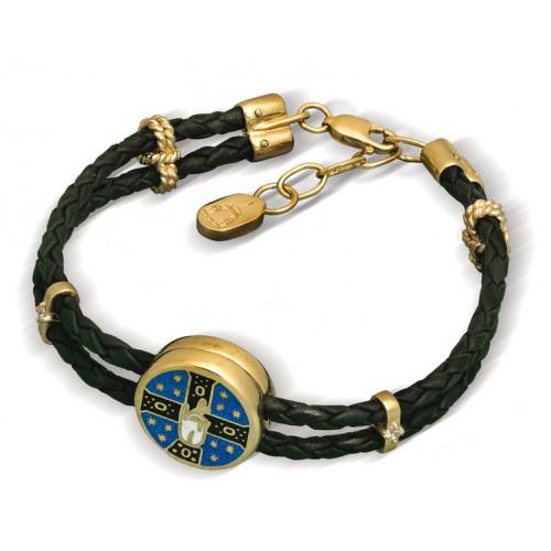 Православный браслет с эмалью «Благословение» Мастерская «Нилова Пустынь»