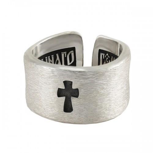 Православное кольцо с крестом «Иисусова молитва»