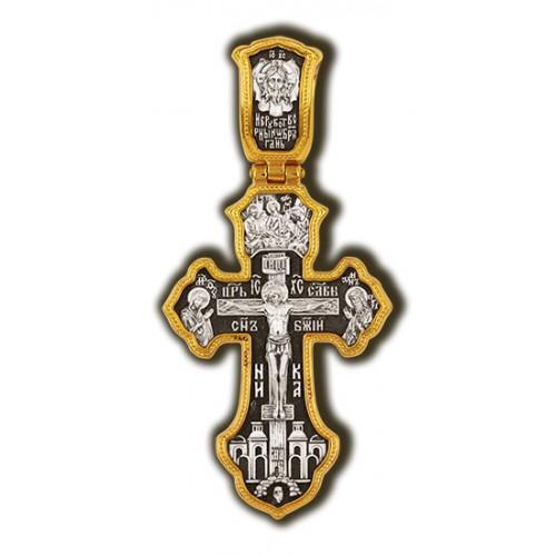 Нательный крест «Молитва Кресту, Архангел Михаил, святая Троица» Мастерская «Елизавета»