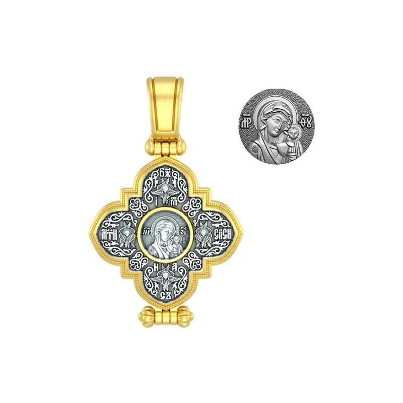Нательный крест мощевик «Казанская икона Божией Матери» Мастерская «Анастасия»