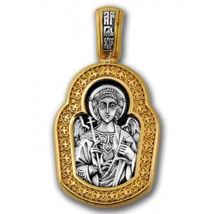 Образок Ангел Хранитель с мечем и крестом. Процветший крест