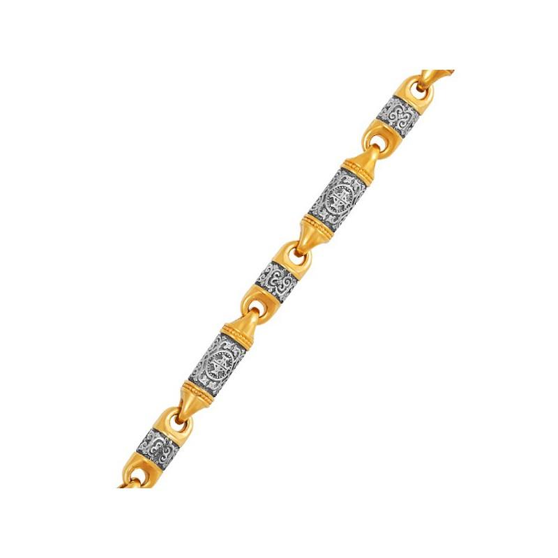 Серебряная цепь «Византийский Крест» 04.098