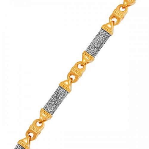 Серебряная мужская цепь с позолотой «Псалом 50»
