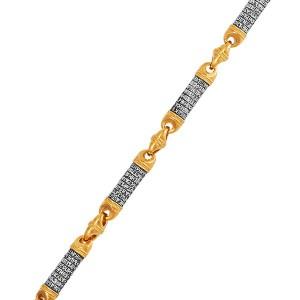 Серебряная мужская цепь с позолотой «Псалом 90» 04.091