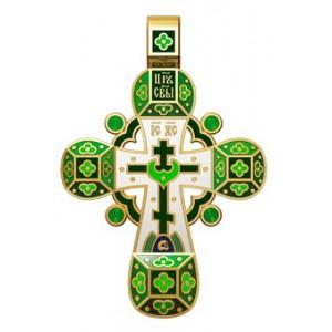 Православный крест с эмалью. Молитва «Спаси, Господи, люди твоя» 19.001-1
