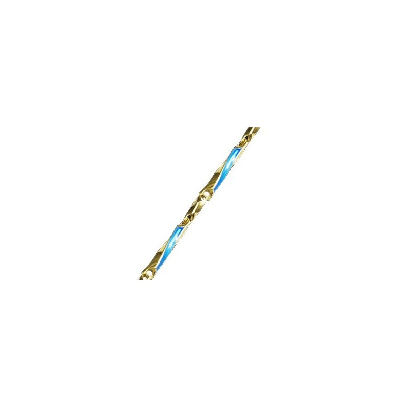 Женская серебряная цепочка с эмалью 170001