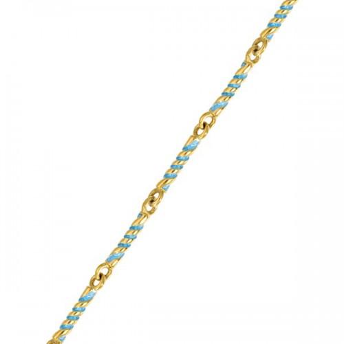 Серебряная цепь с эмалью «Крученая» 04.011