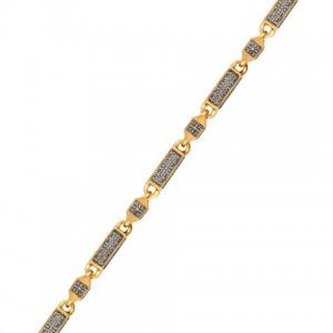 Серебряная цепь «Византийский цветок» 04.115