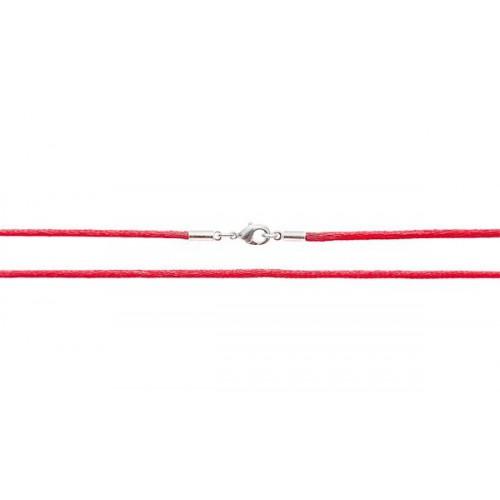 Шёлковый шнурок «Крестильный» красный 70.013