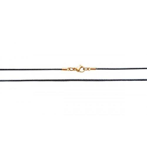 Шёлковый шнурок «Крестильный» черный 70.015