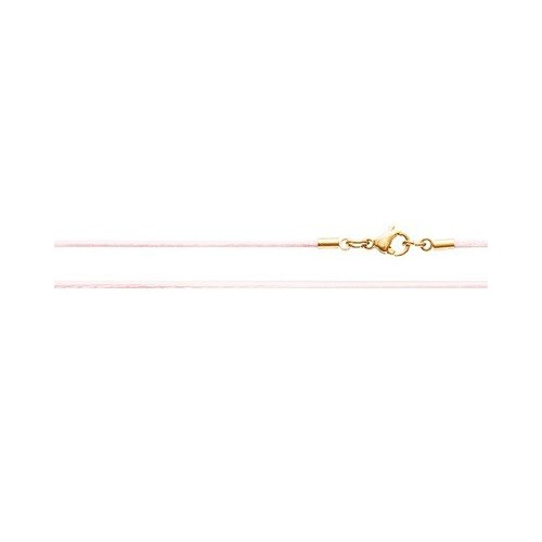 Шёлковый шнурок «Крестильный» розовый 70.017