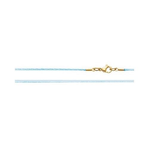 Шёлковый шнурок «Крестильный» голубой 70.018