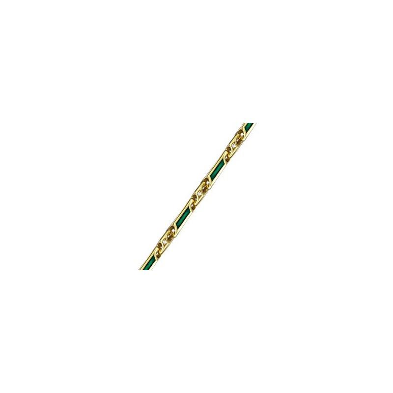 Женская серебряная цепочка с эмалью и фианитами 150001-1