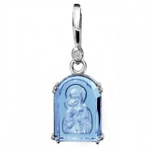 Владимирская Богородица. Арочная икона. Инталия на камне