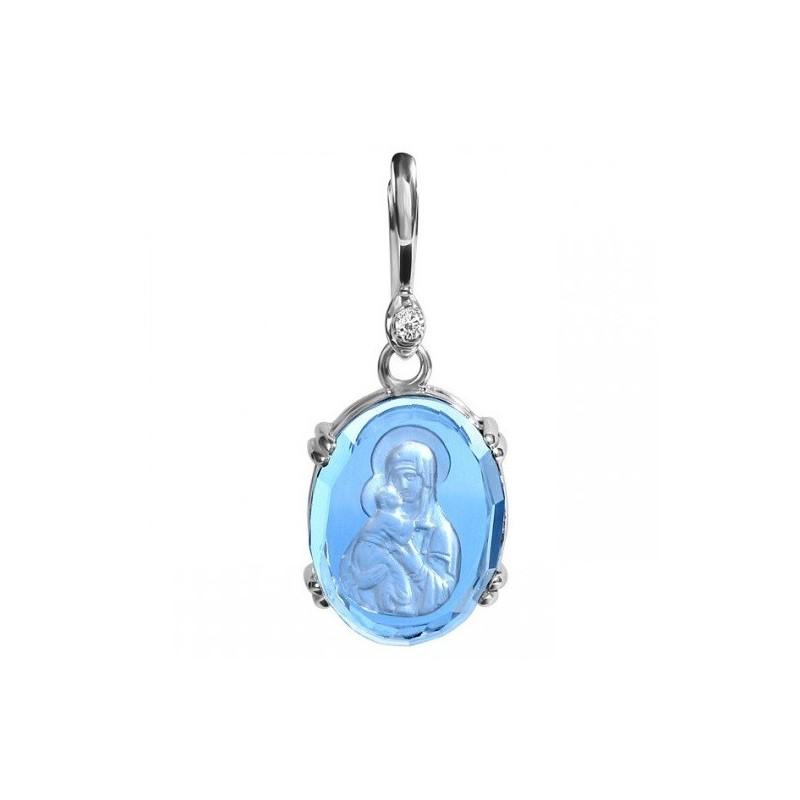 Икона Владимирской Богородицы. Инталия на камне