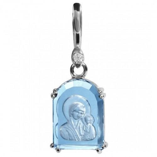Казанская Богородица. Арочная икона. Инталия на камне