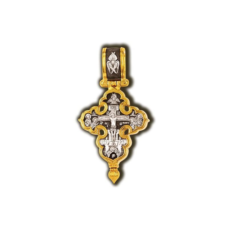 Мощевик «Распятие Христово с предстоящими. Покров Пресвятой Богородицы» 08354