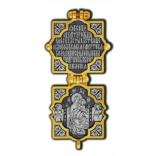 Мощевик «Господь Вседержитель. Икона Божией Матери Всецарица» 08671
