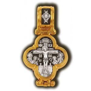 Мощевик «Распятие Христово с предстоящими. Барская икона Божией Матери» 08343