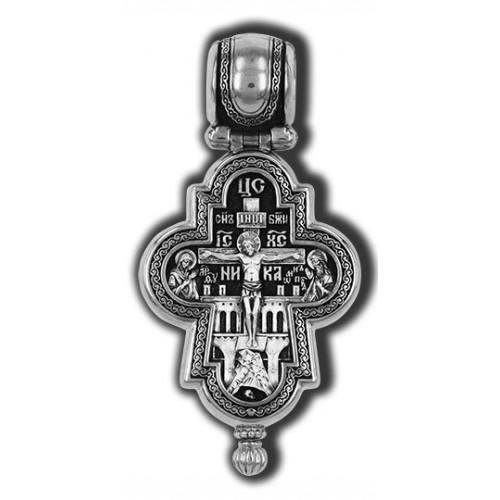 Нательный мощевик «Распятие. Ангел-Хранитель. Деисус» 18491