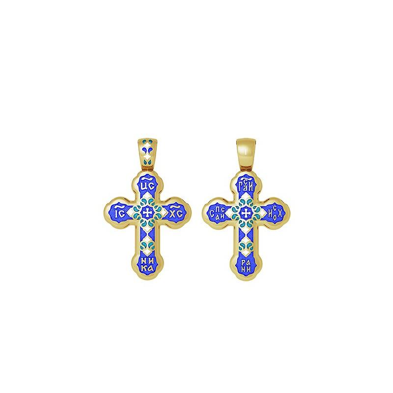 Православный крест с молитвой «Господи, спаси и сохрани» 19.009