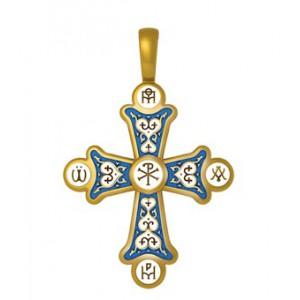 Нательный крестик «Хризма, Монограммы Евангелистов» 19.006